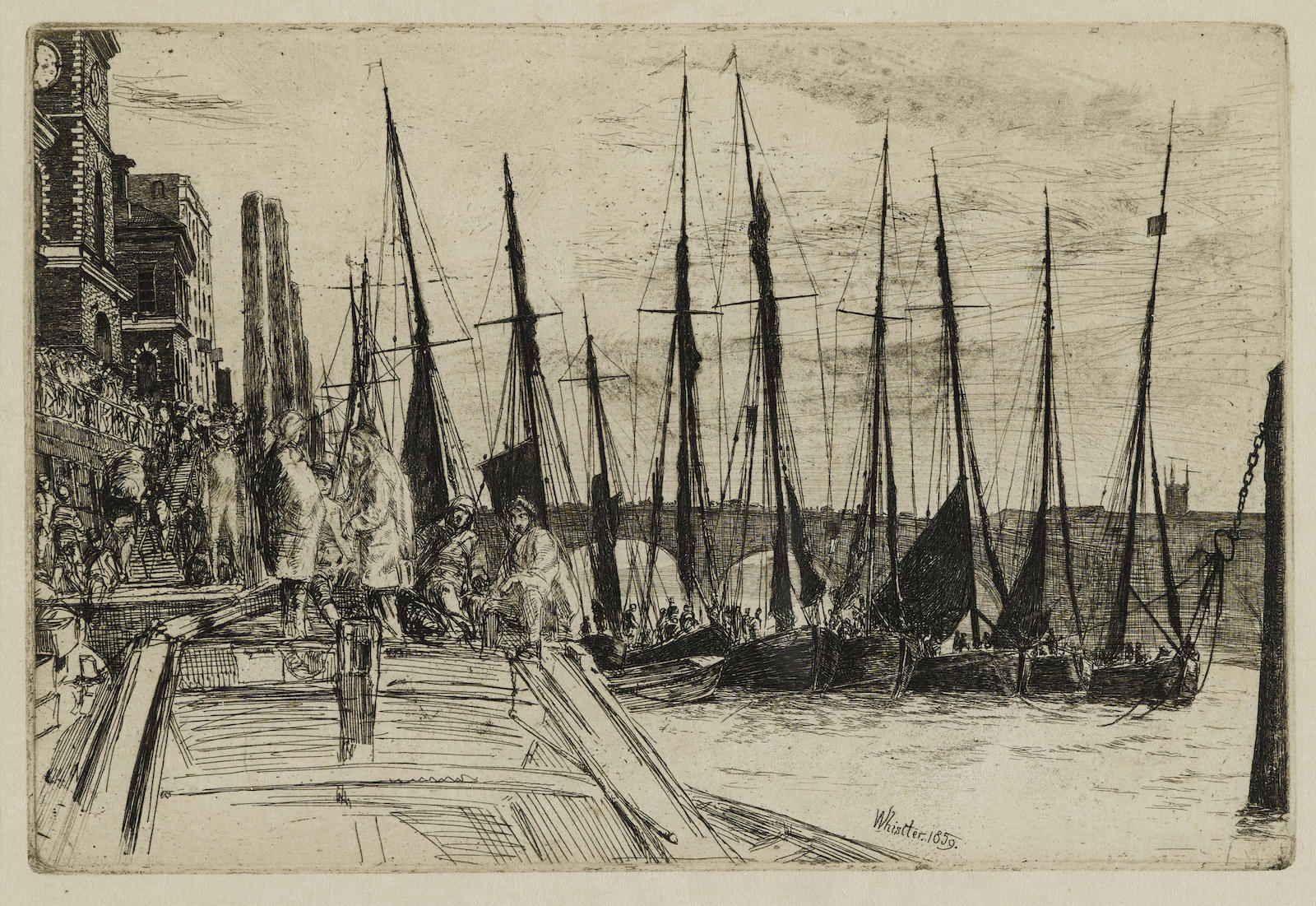 James Abbott McNeill Whistler-Thames Police; Billingsgate; Hurlingham (K. 44, 47, 181)-1879