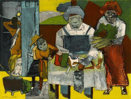 Romare Bearden-The Family (GG. 55A)-1975