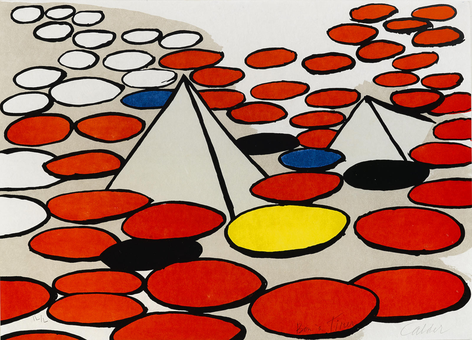 Alexander Calder-Untitled (Pyramids and Circles)-1970