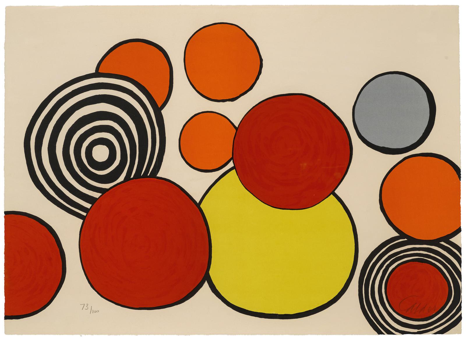 Alexander Calder-Taches de rousseur, pl. 2, from La Mémoire Elémentaire, 1978-1978