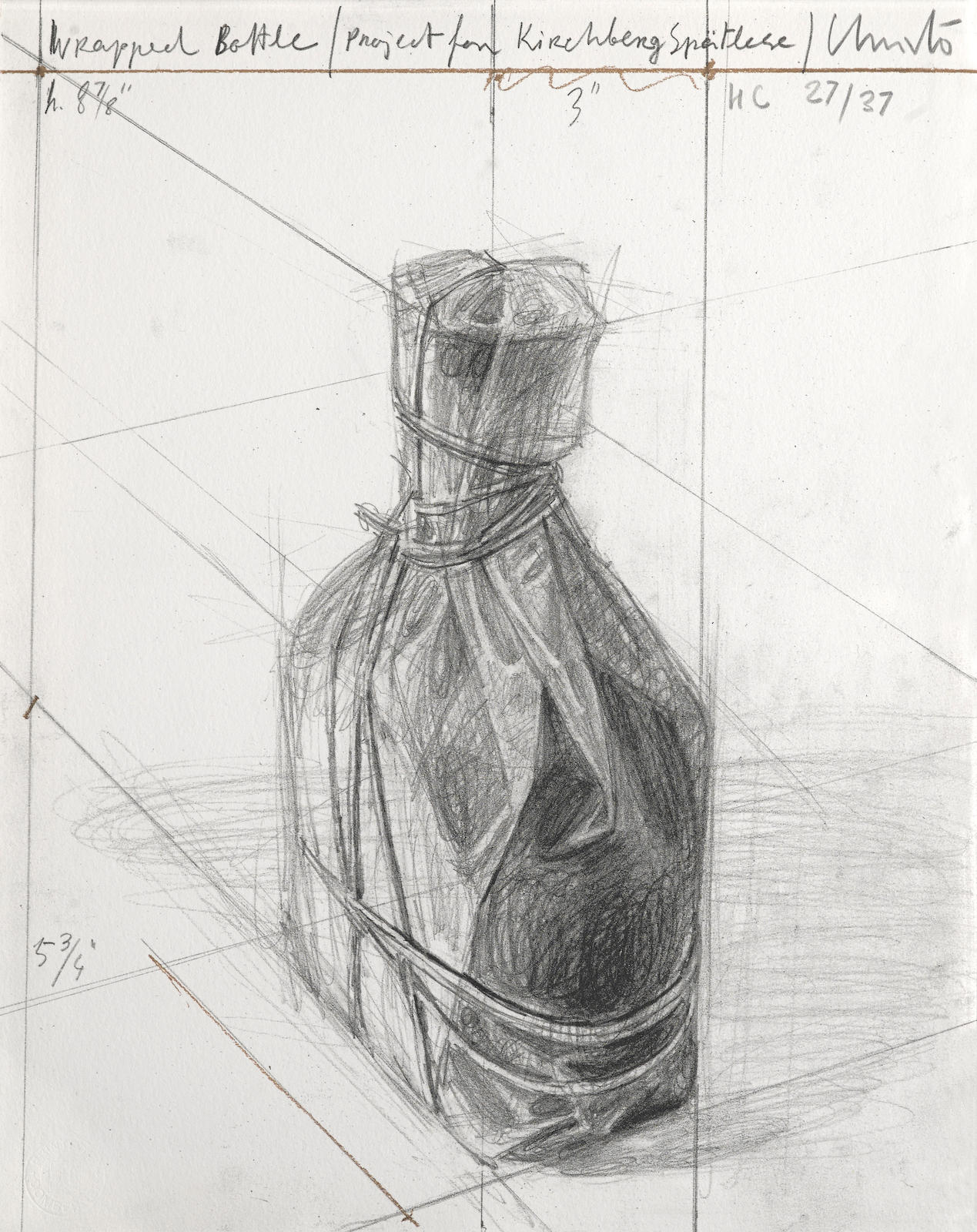 Christo and Jeanne-Claude-Wrapped Bottle, Project, from Homage à Domberger Portfolio (S. & K. 184)-2002
