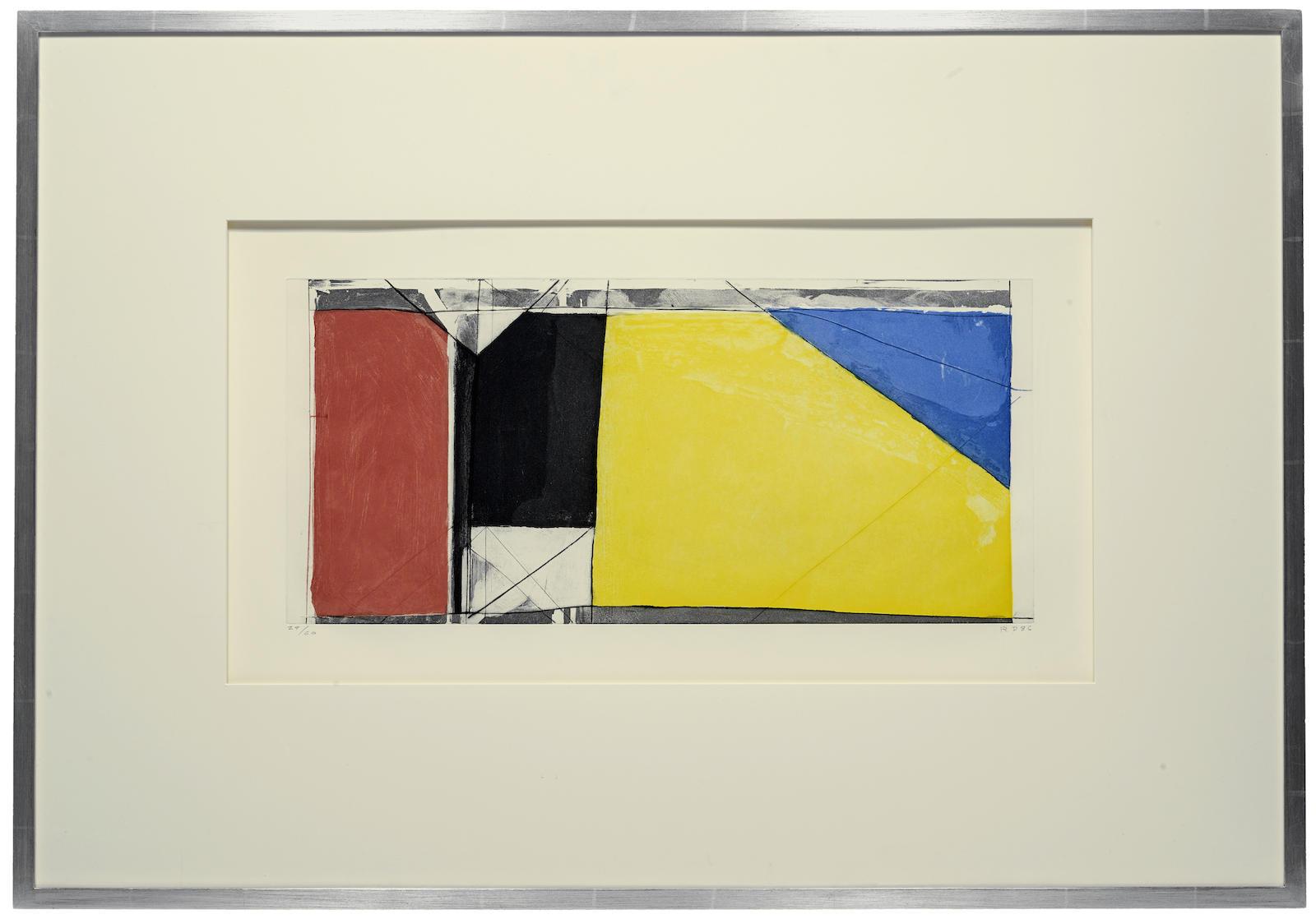 Richard Diebenkorn-Folsom Street Variation III (Primary)-1986