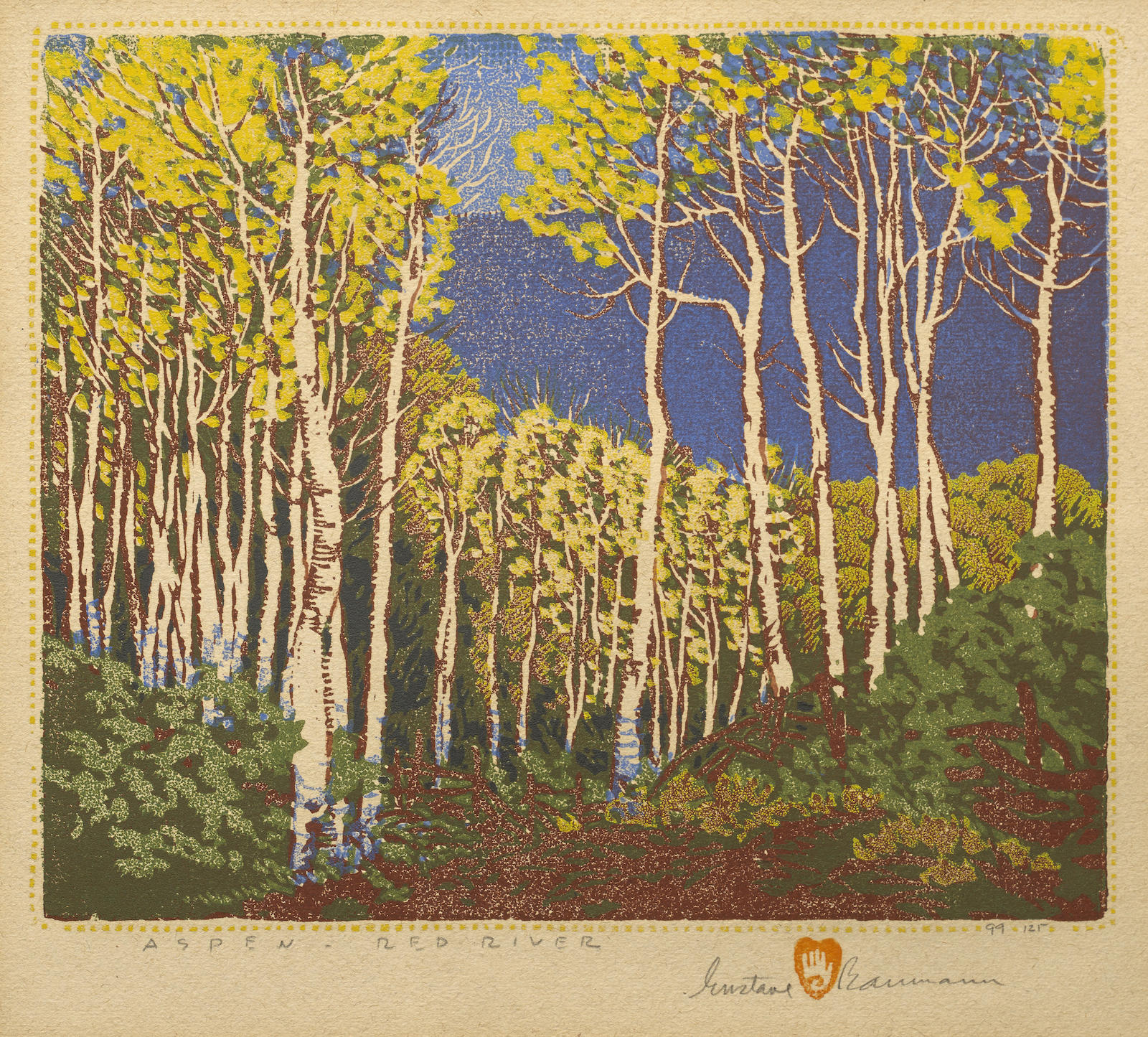 Gustave Baumann-Aspen - Red River (not in Acton)-1924