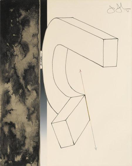 Jasper Johns-Fragment-According to What Series, Bent U (G. 291)-1971