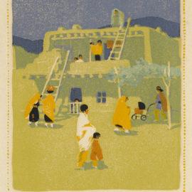 Gustave Baumann-Santo Domingo Pueblo (not in Acton)-1924