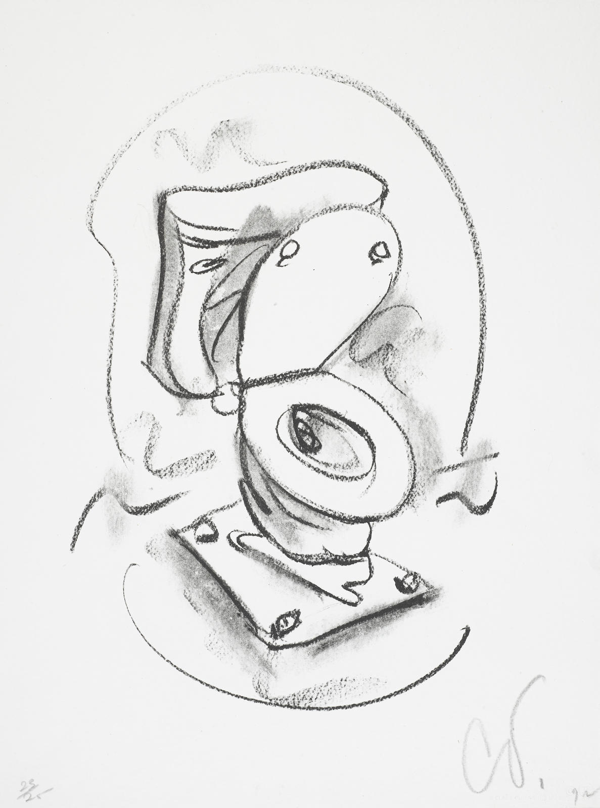 Claes Oldenburg-Soft Toilet #2 (A./P. 93; G. 414)-1972