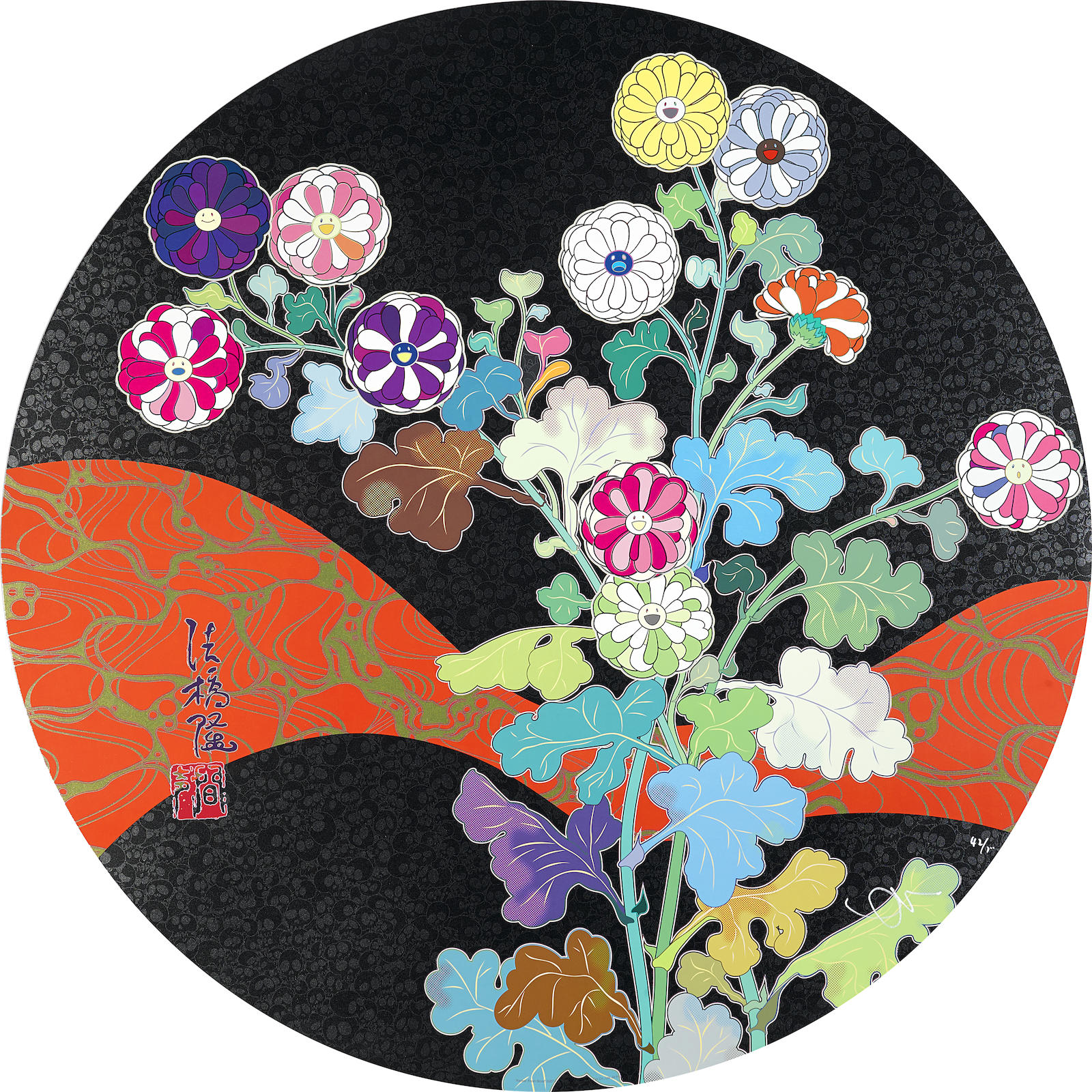 Takashi Murakami-Kansei Skulls; Kansei Fresh Blood, 2010; 2014-2014