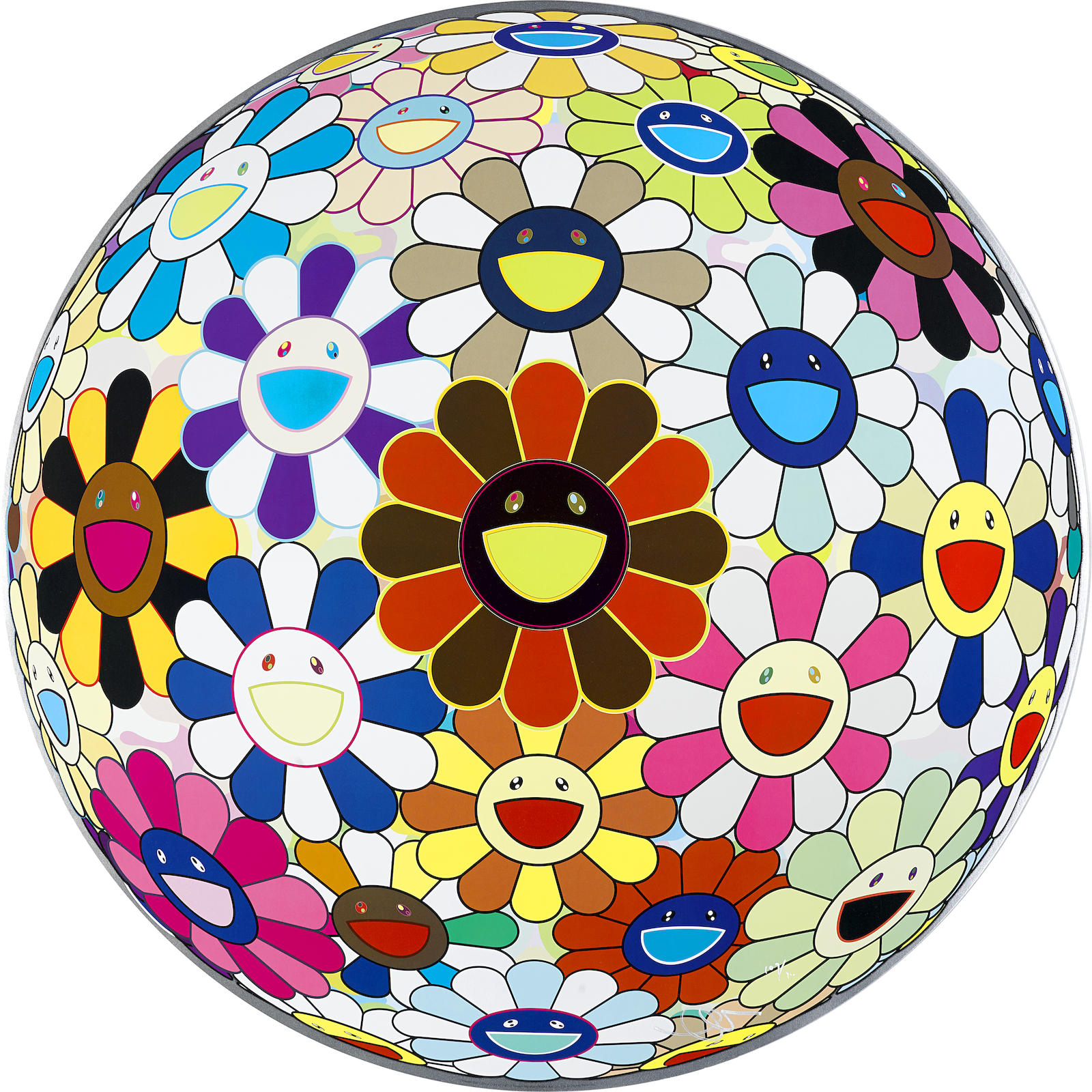 Takashi Murakami-Flower Ball (Lot of Colors)-2013