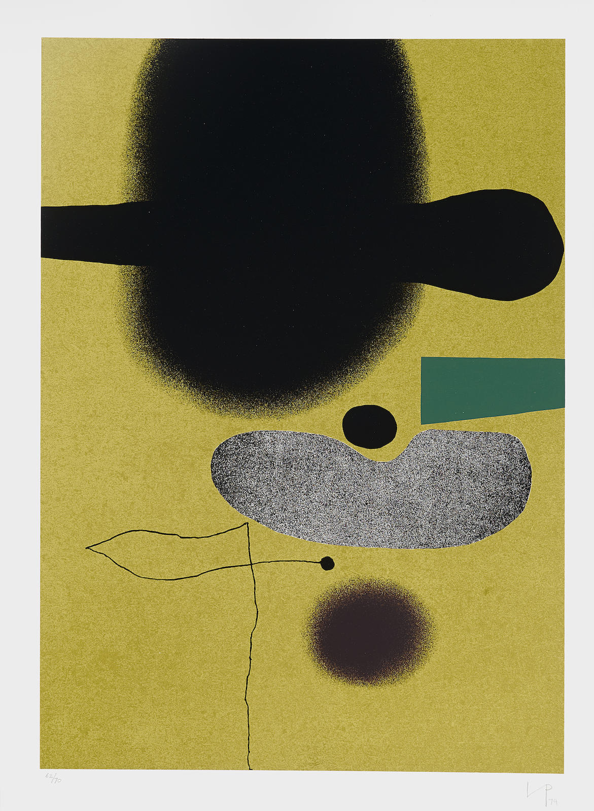 Victor Pasmore-Points of Contact No. 21 (B./L. 36)-1974
