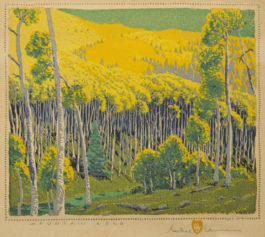 Gustave Baumann-Mountain Gold (A. 3)-1946