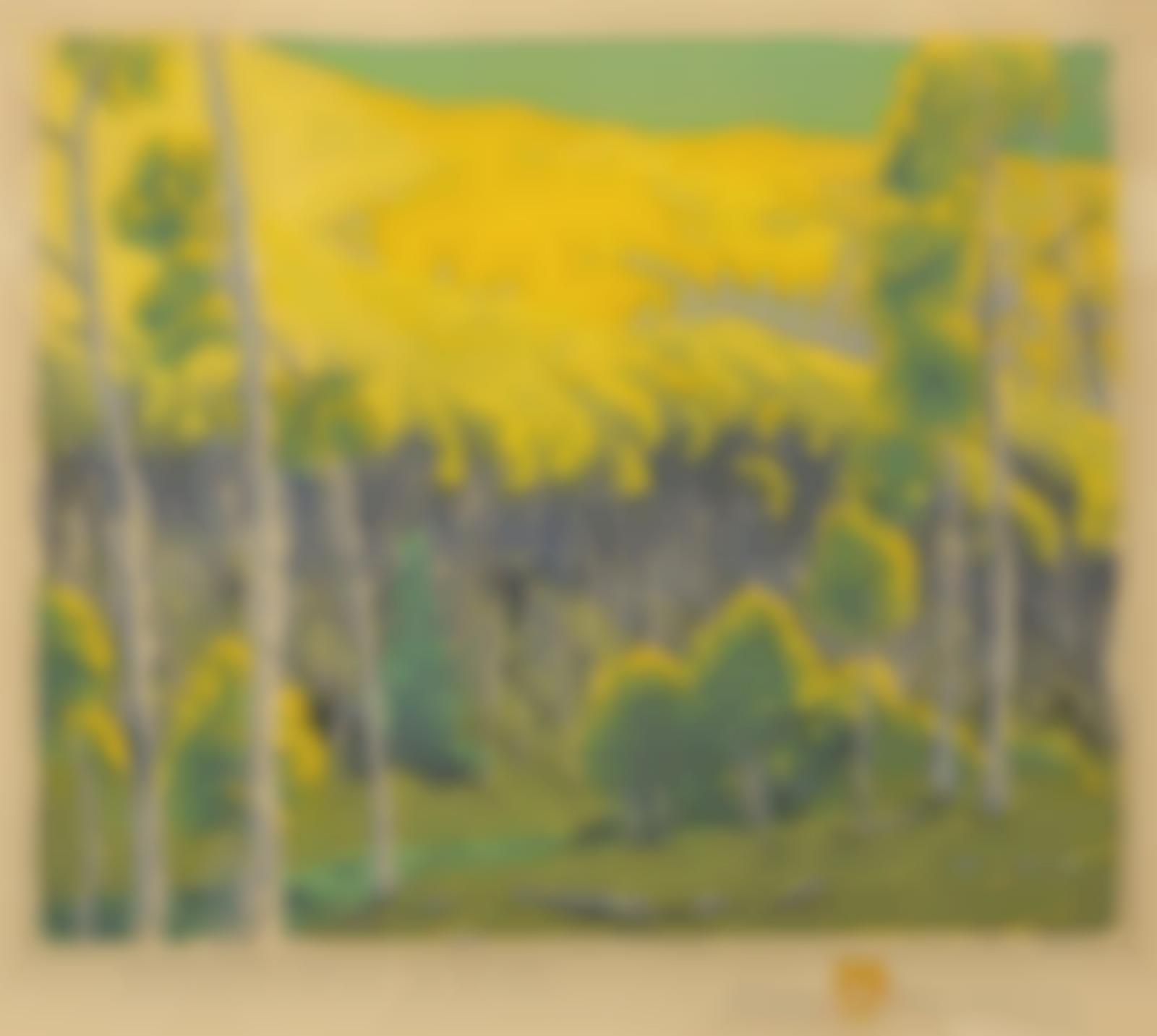 Gustave Baumann-Mountain Gold (A. 3)-1946