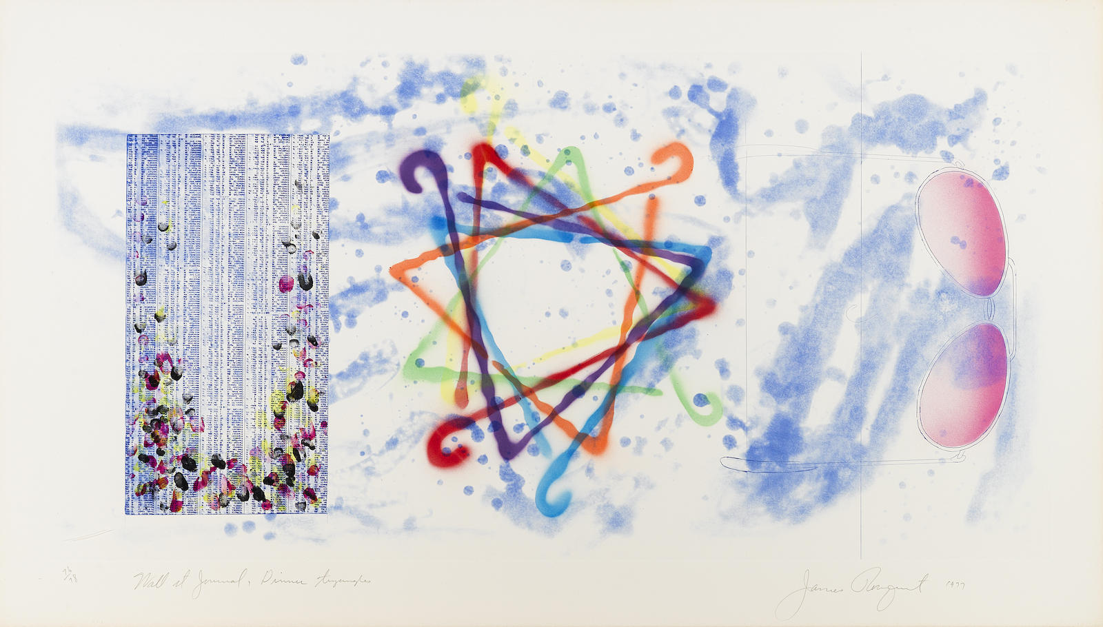 James Rosenquist-Wall Street Journal, Dinner Triangles (G. 116)-1977