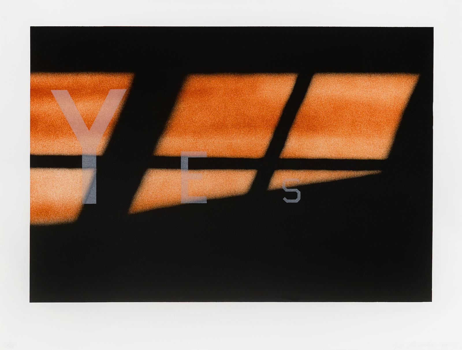 Ed Ruscha-Yes (E. 139)-1984