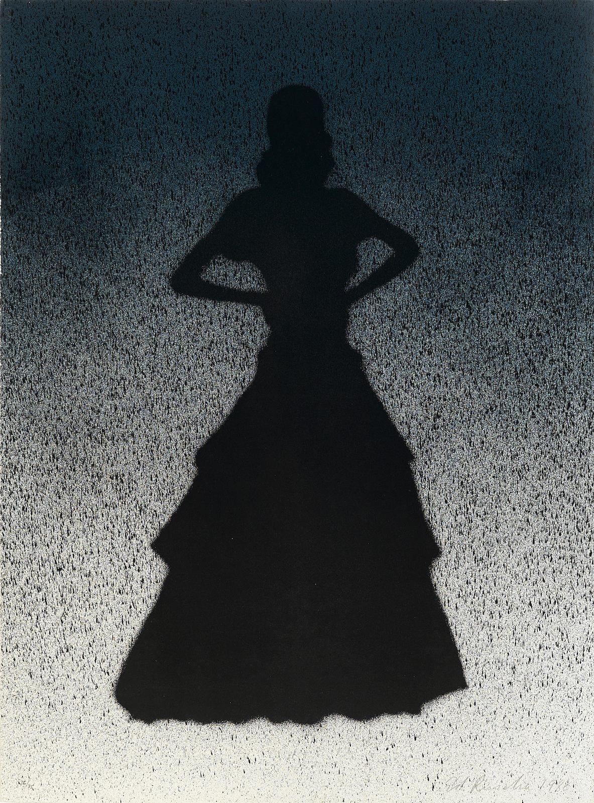 Ed Ruscha-Bailarina, from California Portfolio (E. 164)-1988
