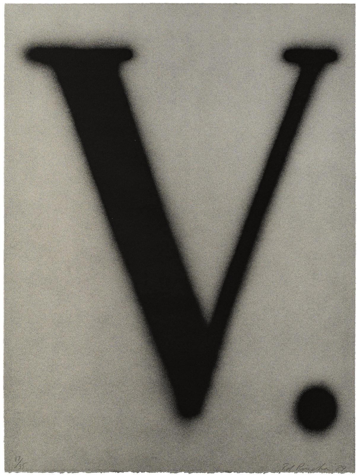 Ed Ruscha-V. (E. 185)-1989