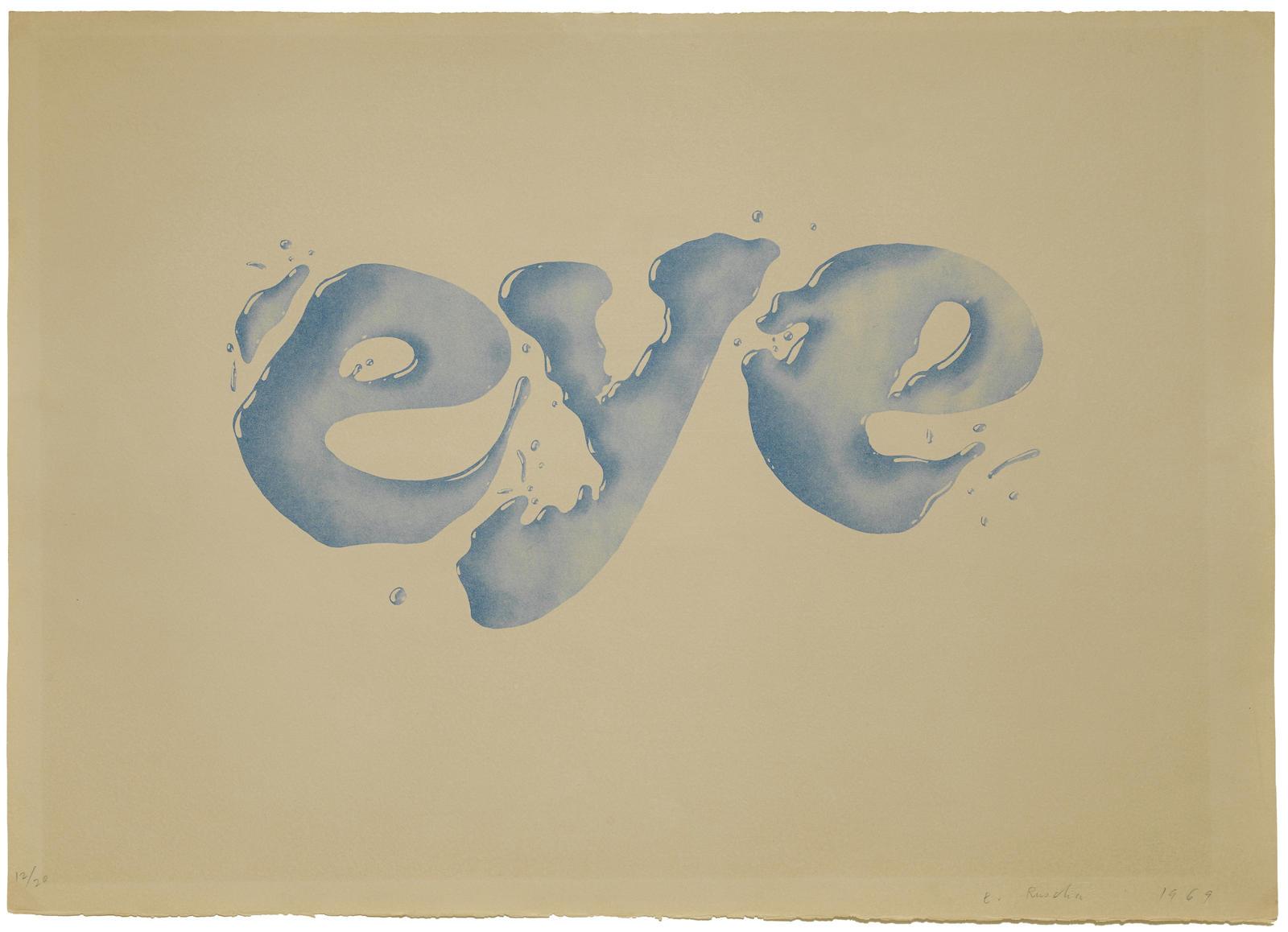 Ed Ruscha-Eye (E. 12; T. 2529)-1969