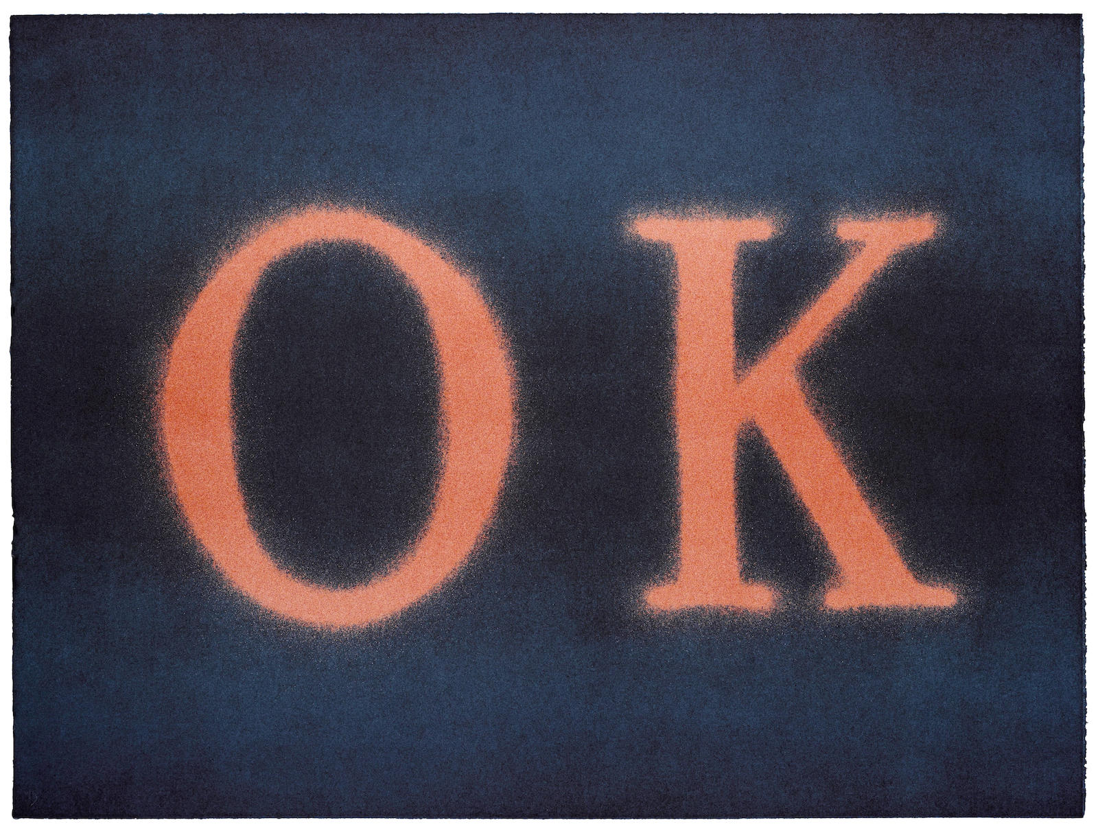 Ed Ruscha-OK (State I)-1990