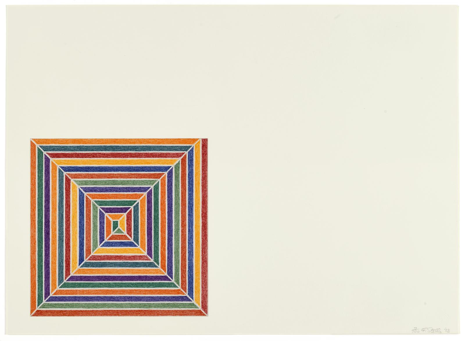 Frank Stella-Line Up, from Jasper's Dilemma (A. 85)-1973