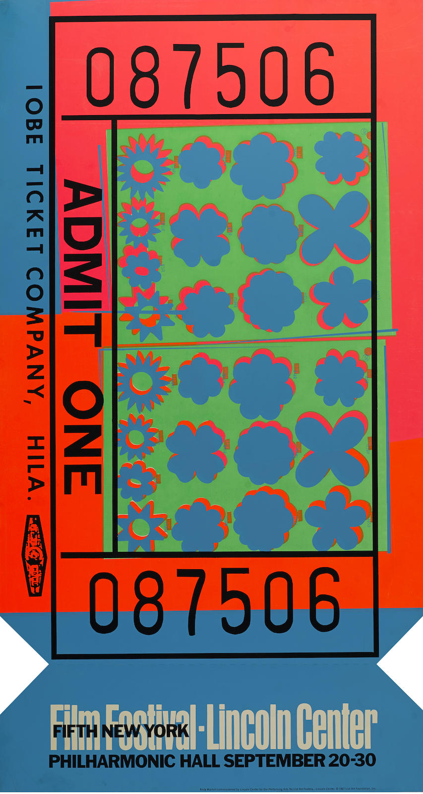 Andy Warhol-Lincoln Center Ticket (F./S. II.19)-1967