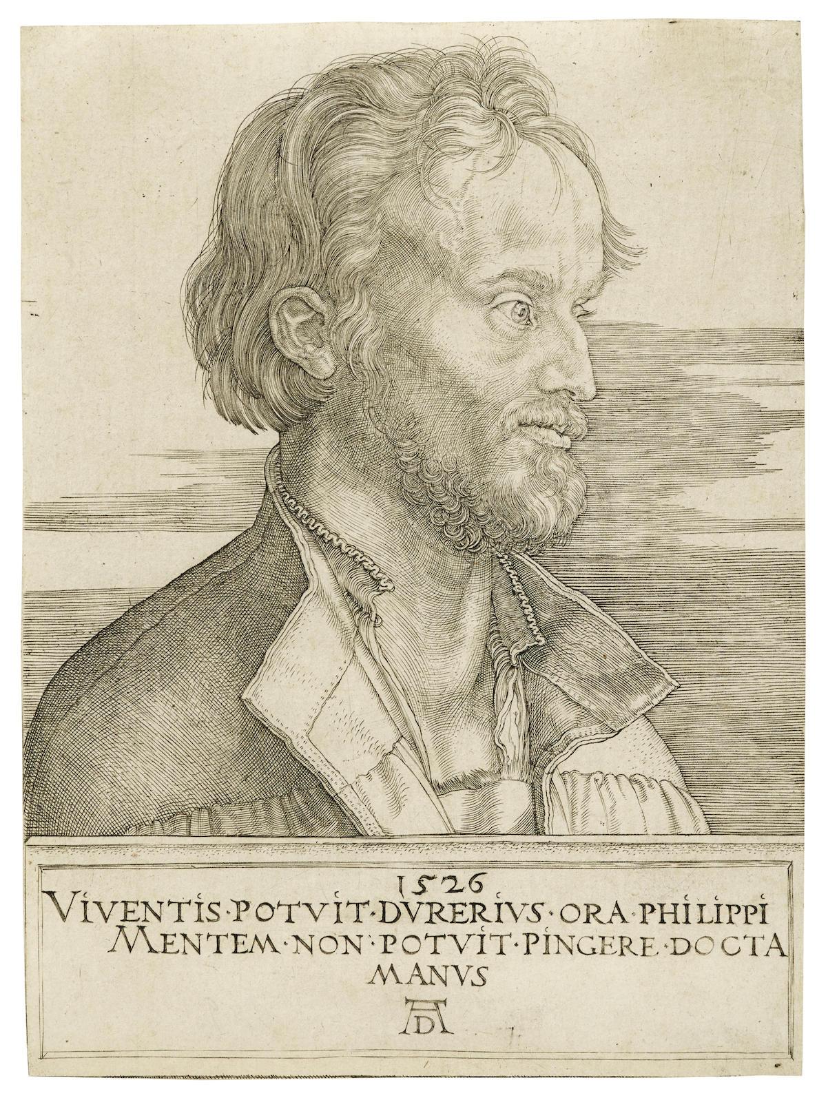 Albrecht Durer-Philip Melanchthon (B. 105; M., Holl. 104)-1526