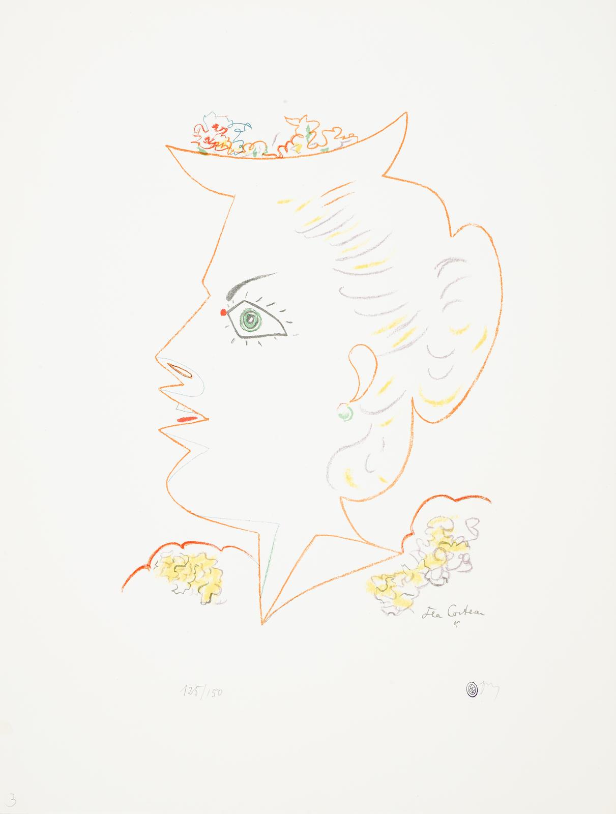 Jean Cocteau-Jean Cocteau: 25 Lithographies Originales, 1956-58-1958
