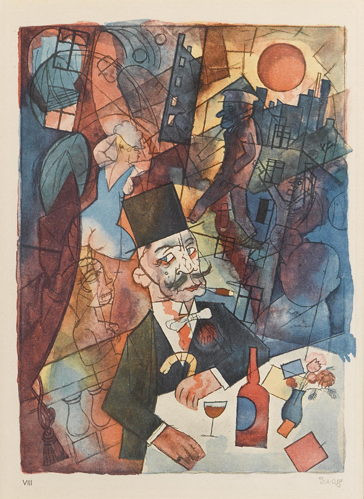 George Grosz-Der Mädchenhändler, pl. VIII, from Ecce Homo (Dückers S I, VIII)-1923