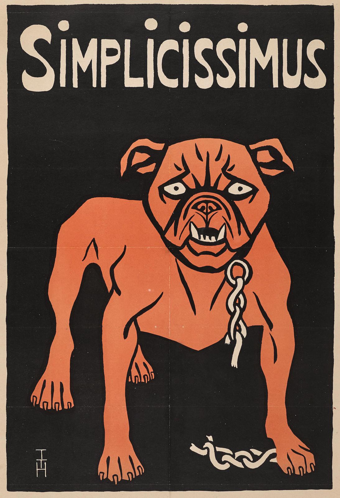 Thomas Theodor Heine-Simplicissimus Bulldog (Mops-Plakat)-1896