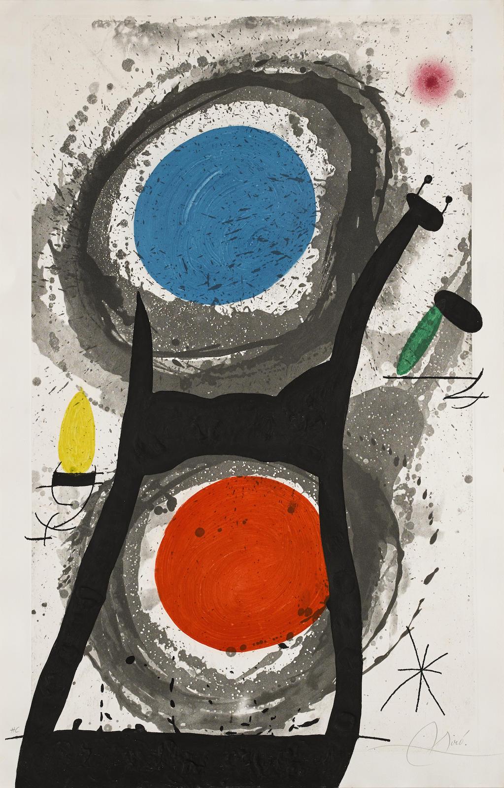 Joan Miro-L'Adorateur du soleil (D. 483)-1969