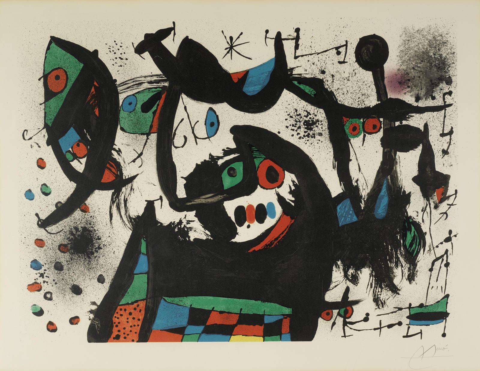 Joan Miro-Pl. 1, from Homenatge à Joan Prats (M. 705; C. bk. 153)-1971