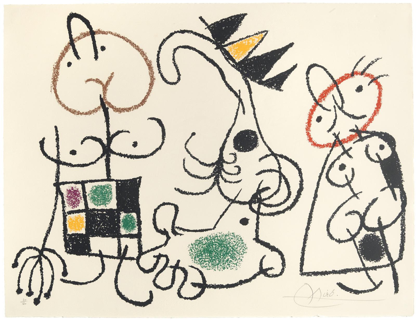 Joan Miro-Pl. 15, from Ubu aux Baléares (M. 780; C. bk. 146)-1971