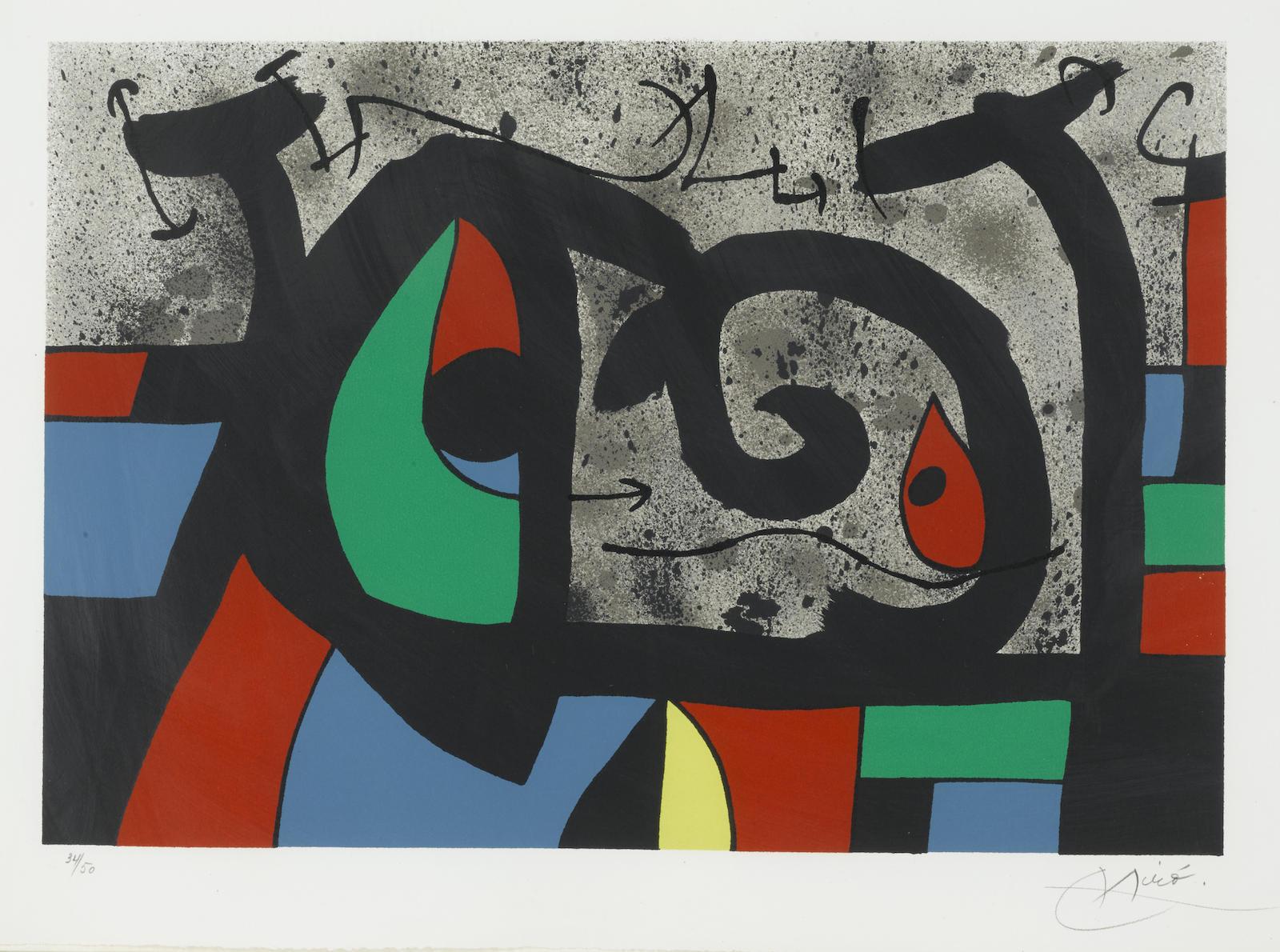 Joan Miro-Pl. 9, from Le lézard aux plumes d'or (M. 809; C. bk. 148)-1971