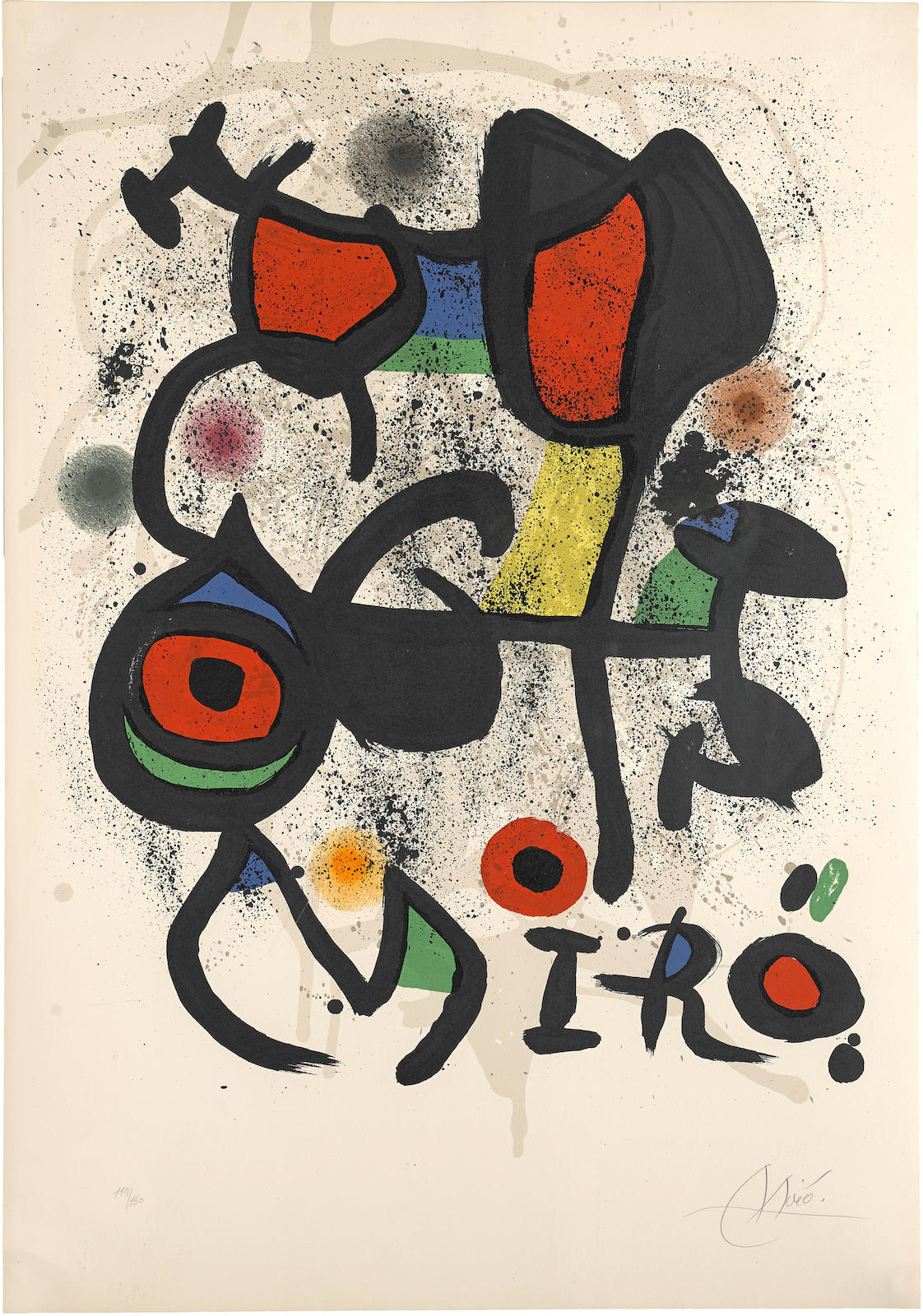 Joan Miro-Poster for the exhibition 'Bronzes,' Hayward Gallery (M. 846)-1972