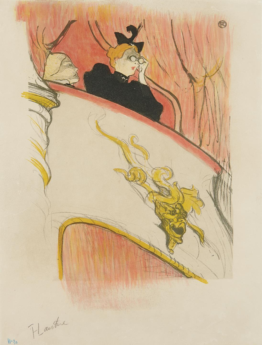 Henri de Toulouse-Lautrec-La loge au mascaron dore (The Box with the Gilded Mask)-1893