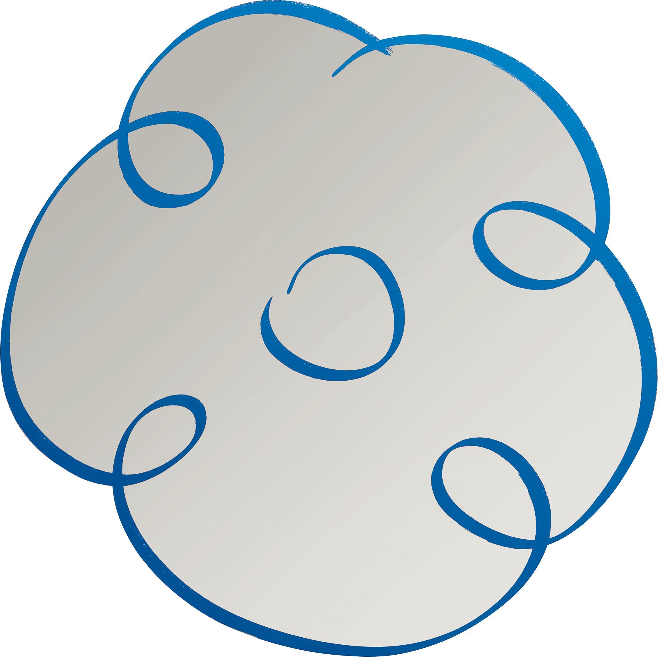 Jeff Koons-Flower Drawing (Blue)-2011