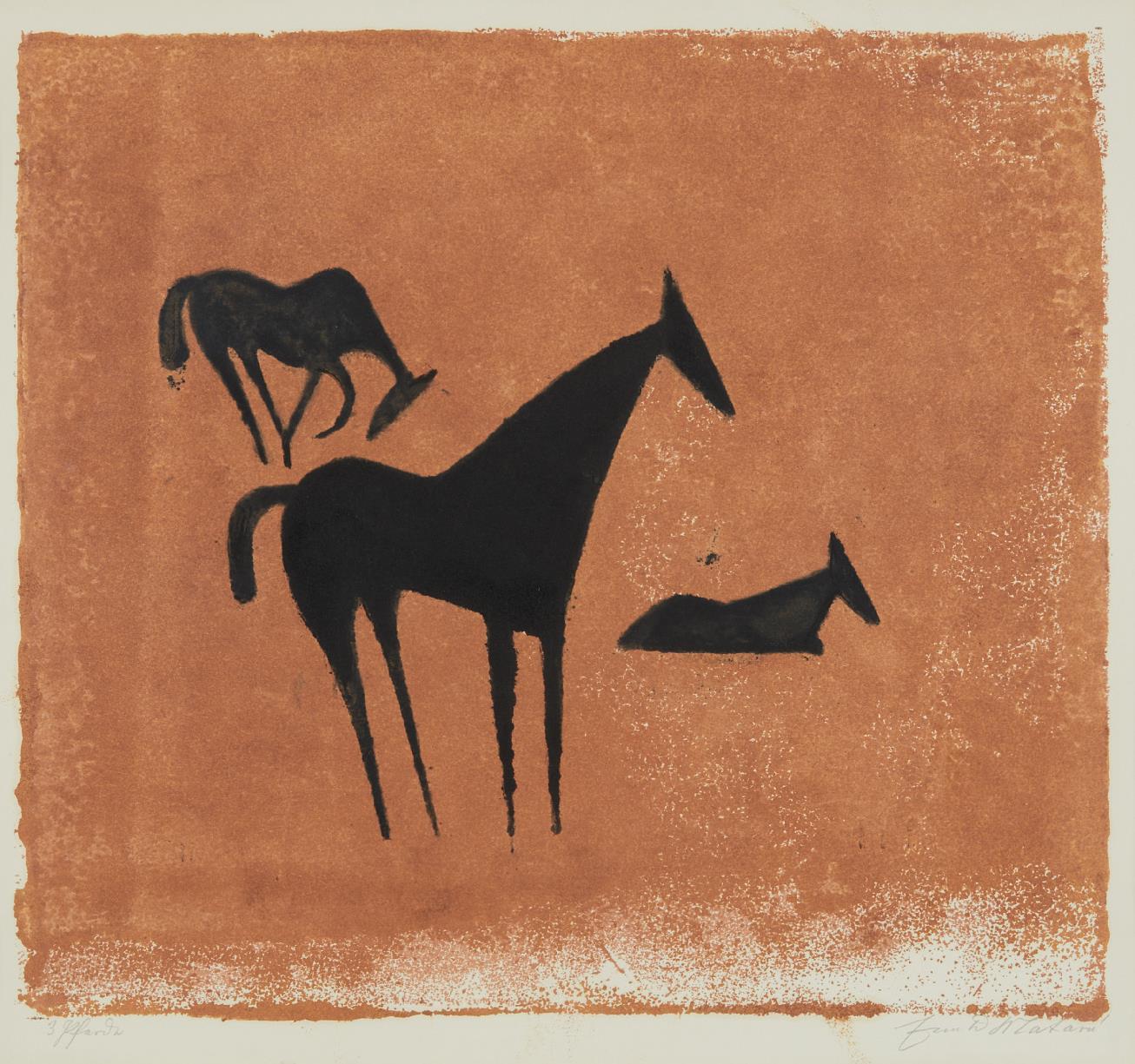 Ewald Matare-Drei Pferde (Three Horses)-1933