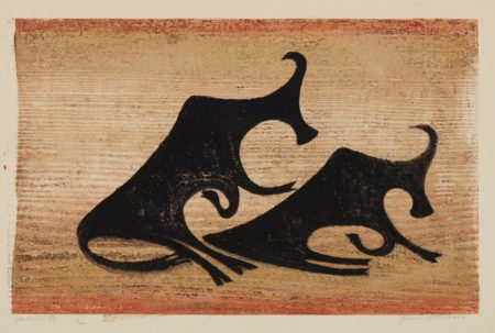 Ewald Matare-Kuhe im Nebel (Cows in the Mist)-1952
