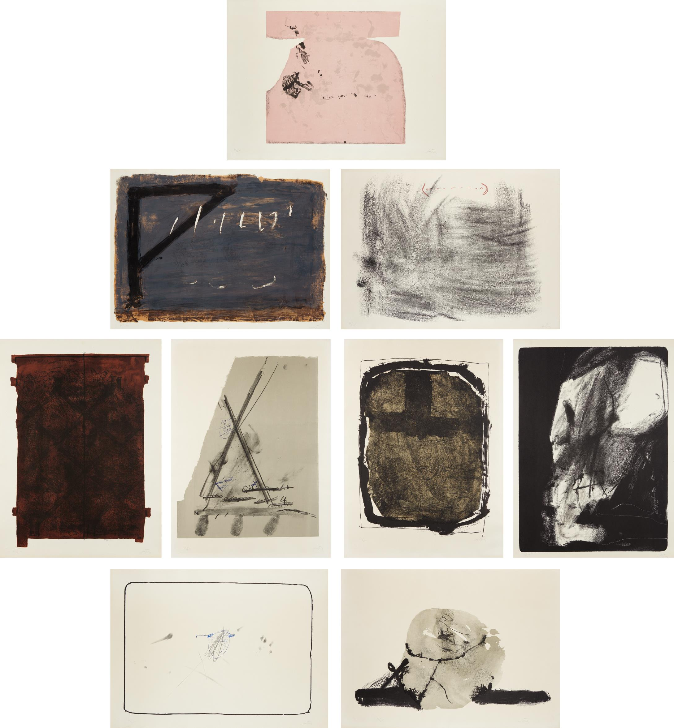 Antoni Tapies-Album St. Gallen: Nine Plates-1965