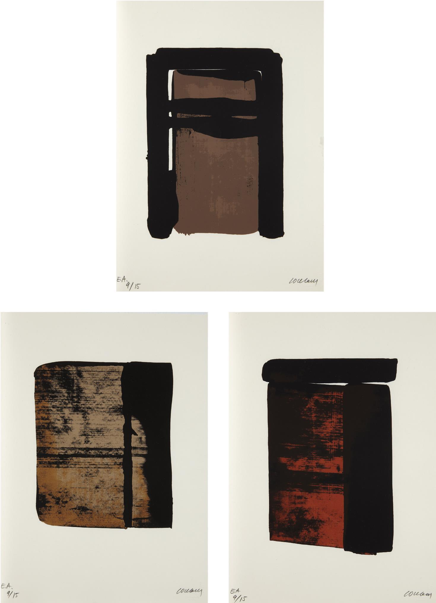 Pierre Soulages-Sur le mur d'en face (On the Opposite Wall)-1979