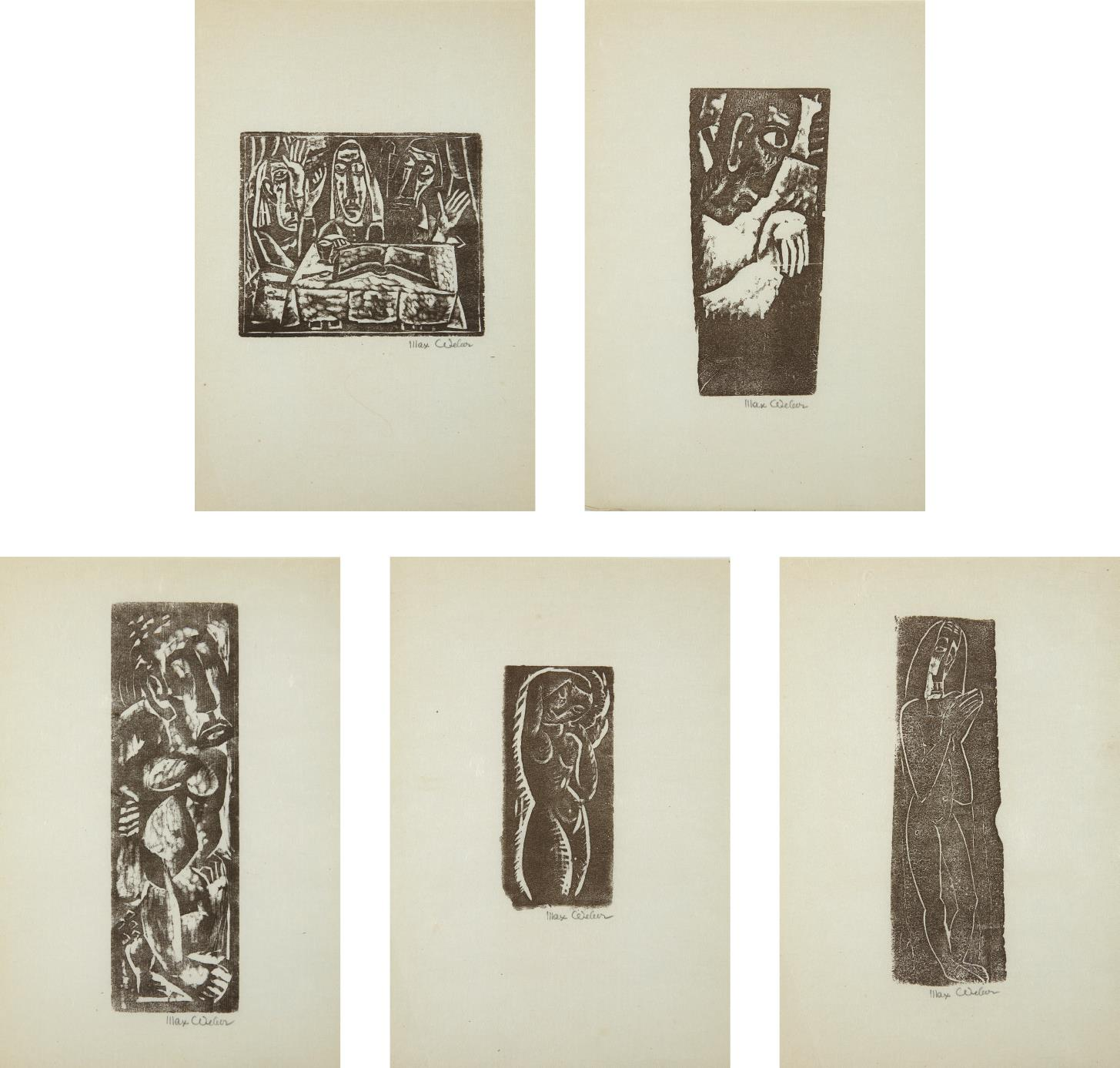 Max Weber-Five Prints by Max Weber-1956