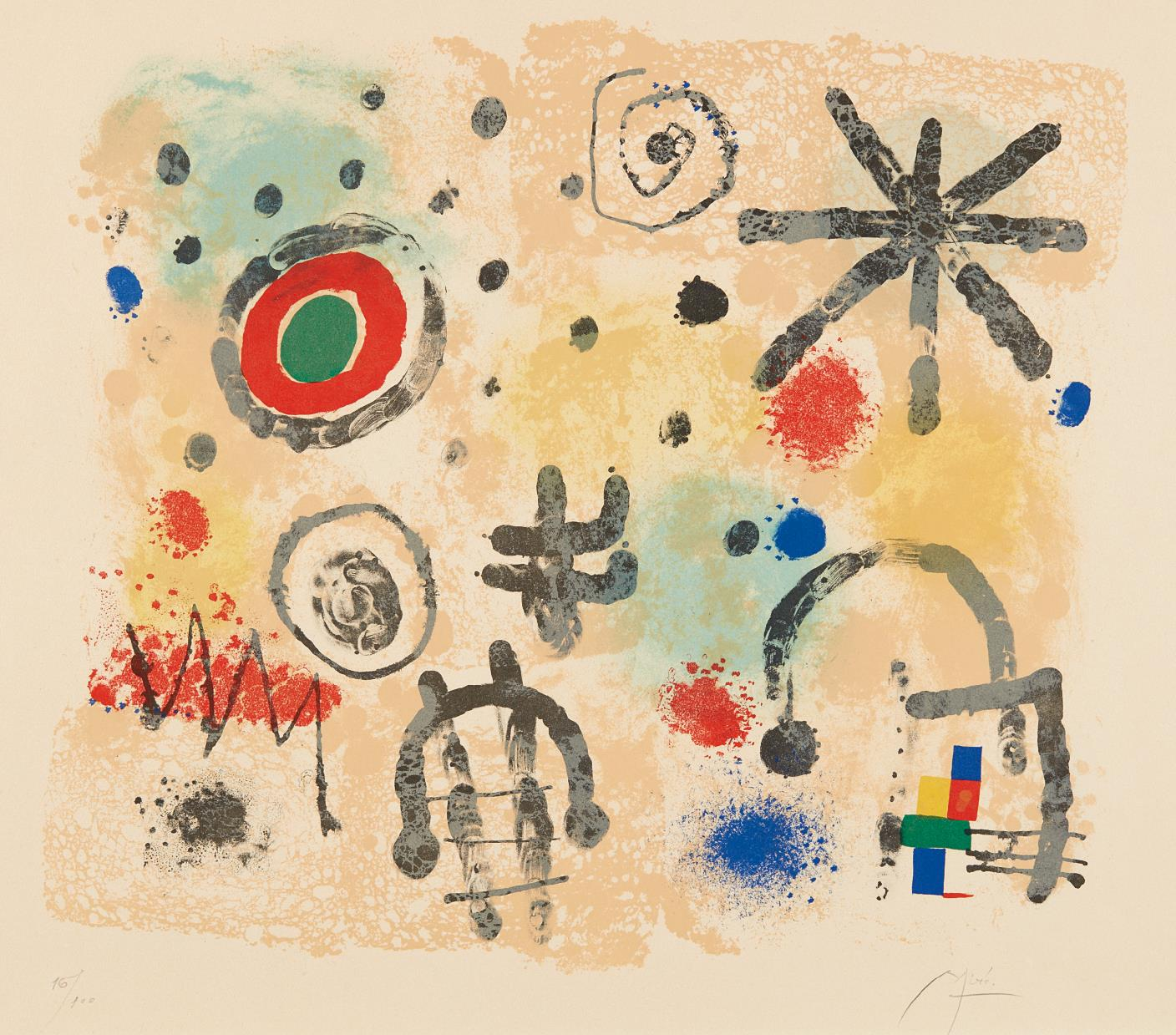 Joan Miro-Signes et meteores (Signs and Meteors)-1958