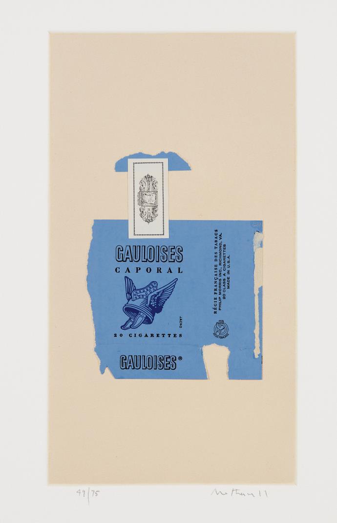 Robert Motherwell-Gauloises Bleues-1968