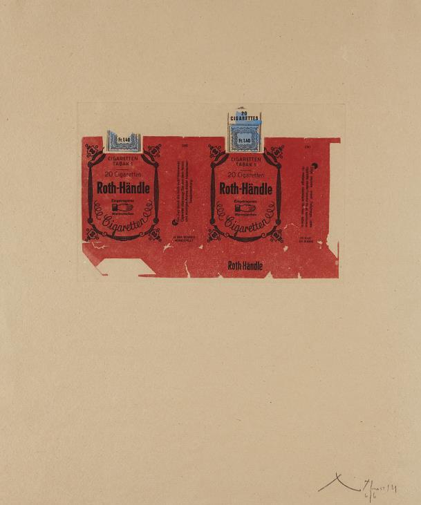 Robert Motherwell-Roth Handle II (Crimson)-1975