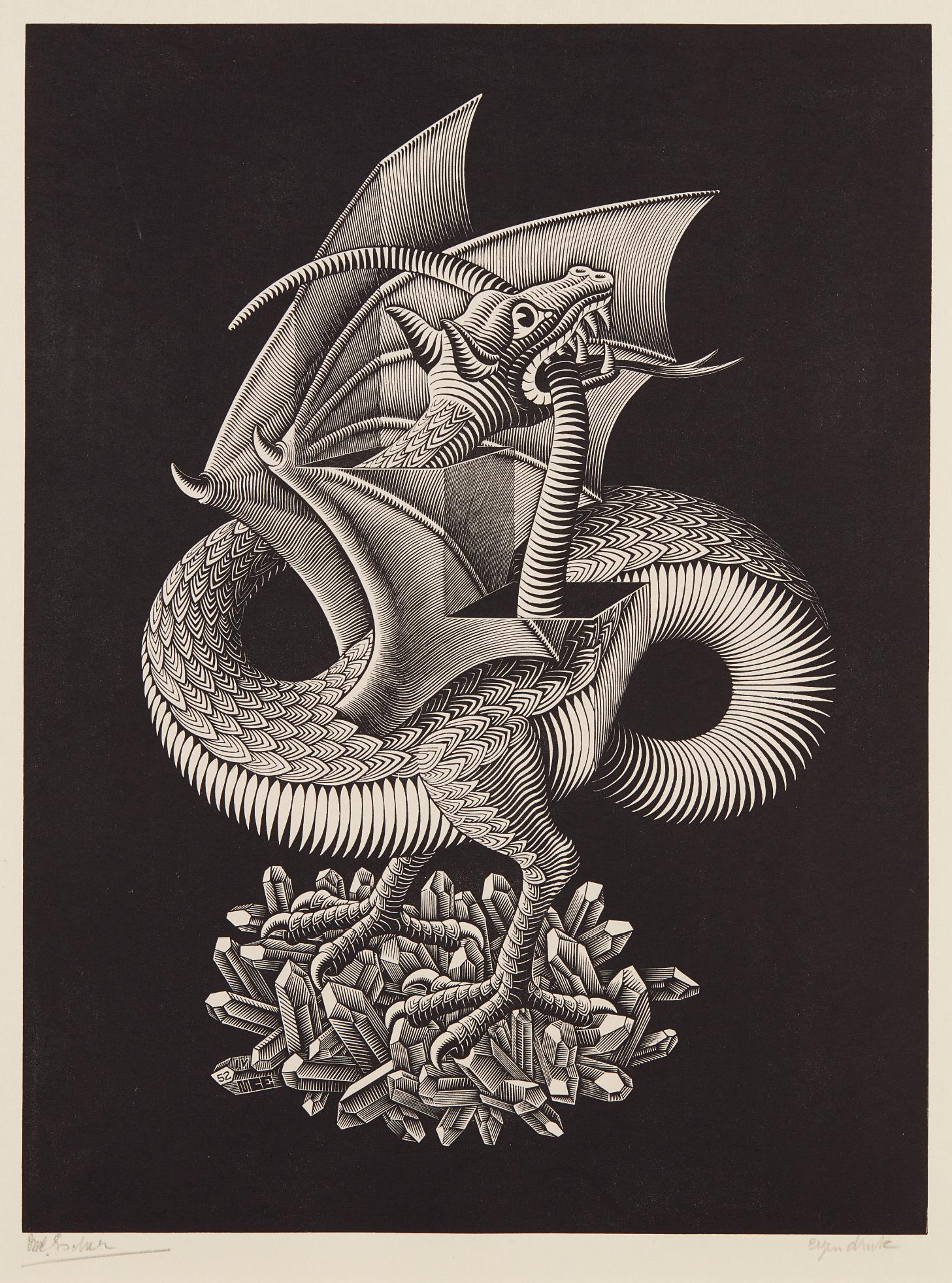 Maurits Cornelis Escher-Dragon-1952