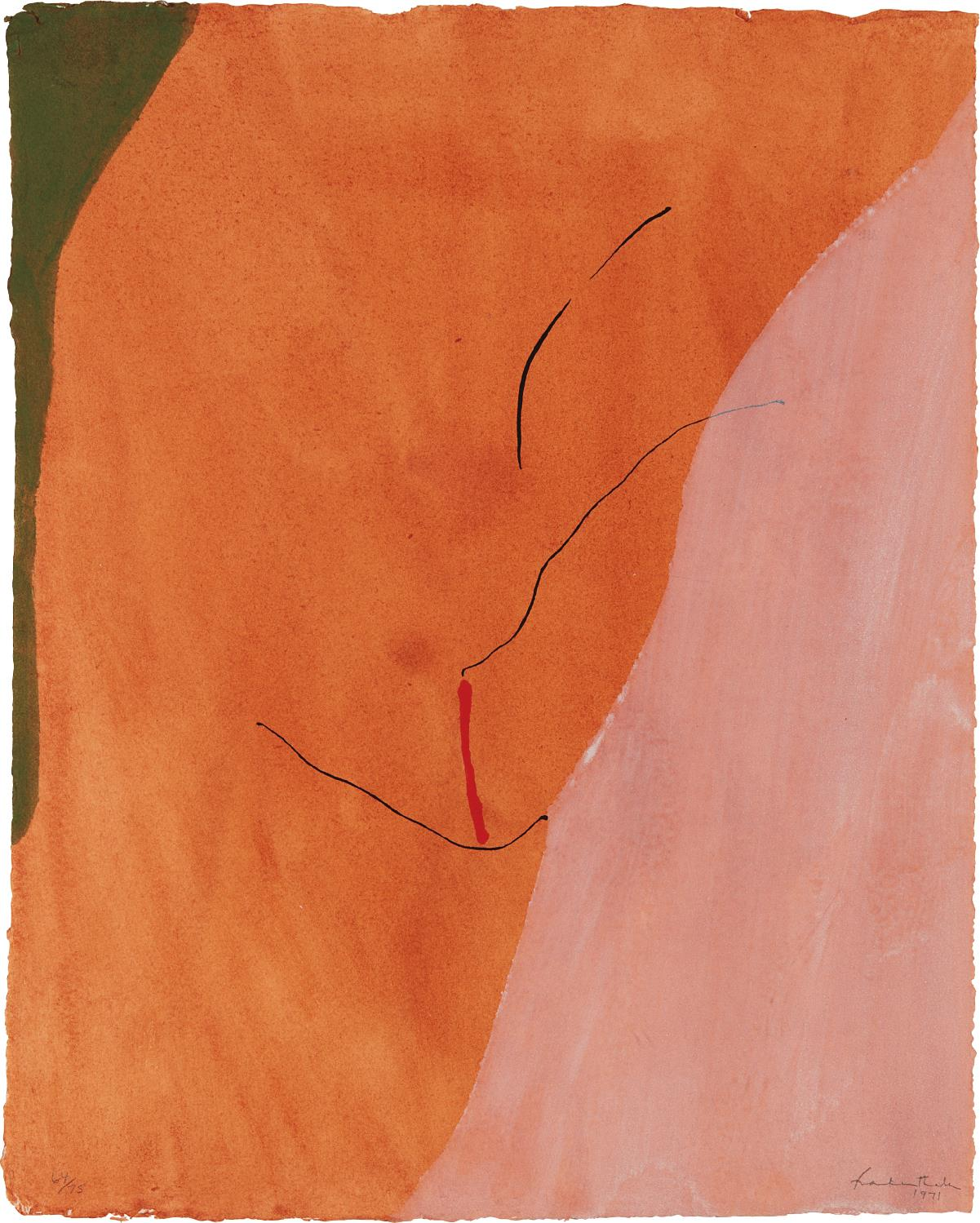 Helen Frankenthaler-Sanguine Mood-1971