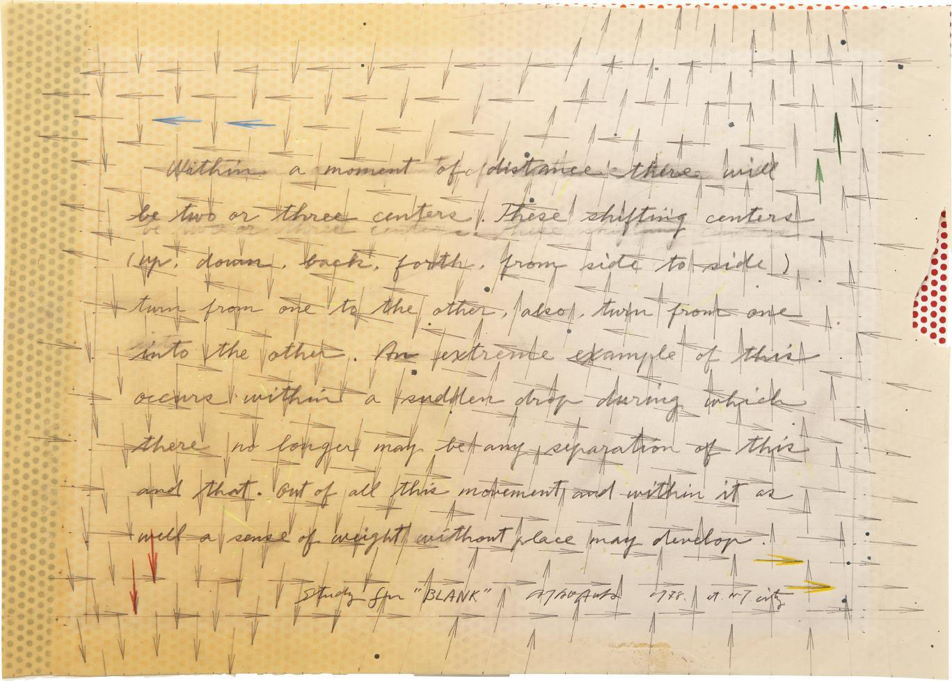 Shusaku Arakawa-Study for Blank-1978