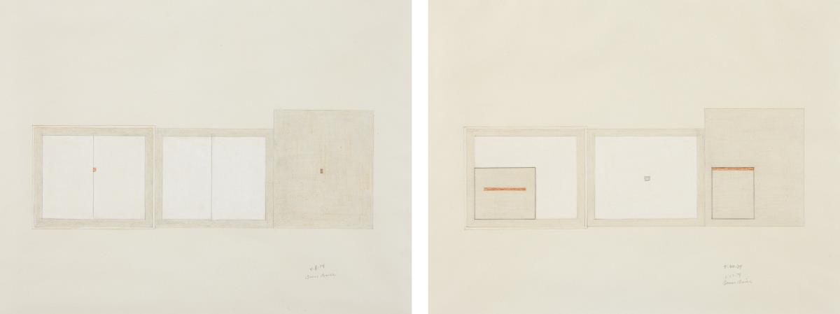 Bruce Boice-Untitled (4-8-74); and Untitled (5-30-74)-1974