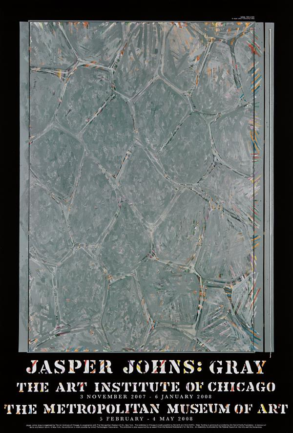 Jasper Johns-Gray (Within) exhibition posters: four copies-2008