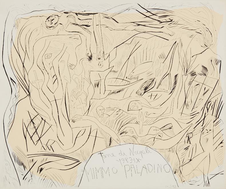 Mimmo Paladino-Tane di Napoli portfolio cover-1983