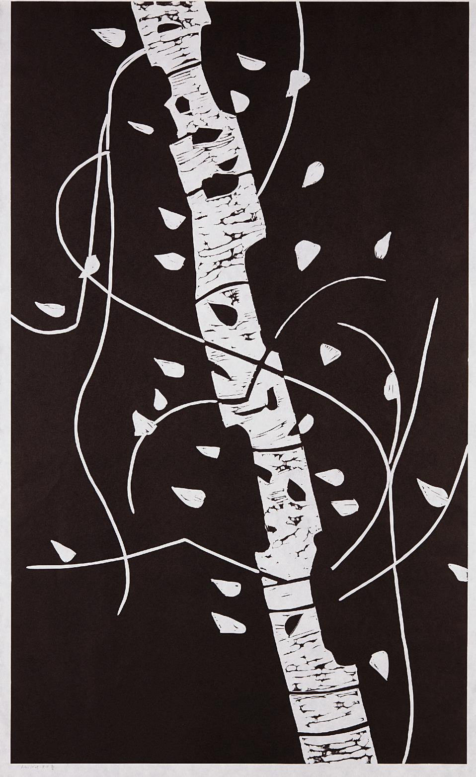 Alex Katz-Large Birch-2005