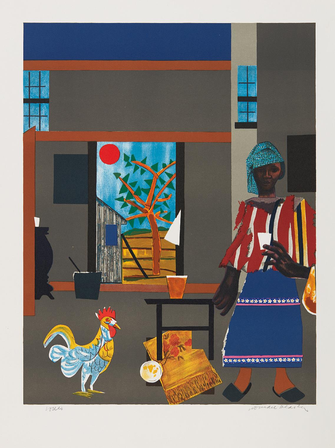 Romare Bearden-Morning of the Rooster-1980